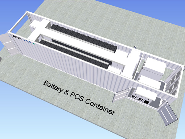 Battery + PCS E-house module